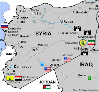 All remaining ISIS resistance zones in Syria are in US-controlled areas