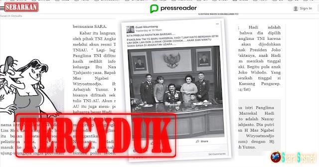 """TERCYDUK !! Fitnah Keluarga Panglima TNI Simpatisan PS Bernama """"Siti Sundari Daranila"""" Ditangkap !!"""