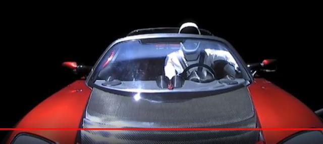 SpaceX - Το Tesla του Έλον Μασκ μεταδίδει Live από το διάστημα!