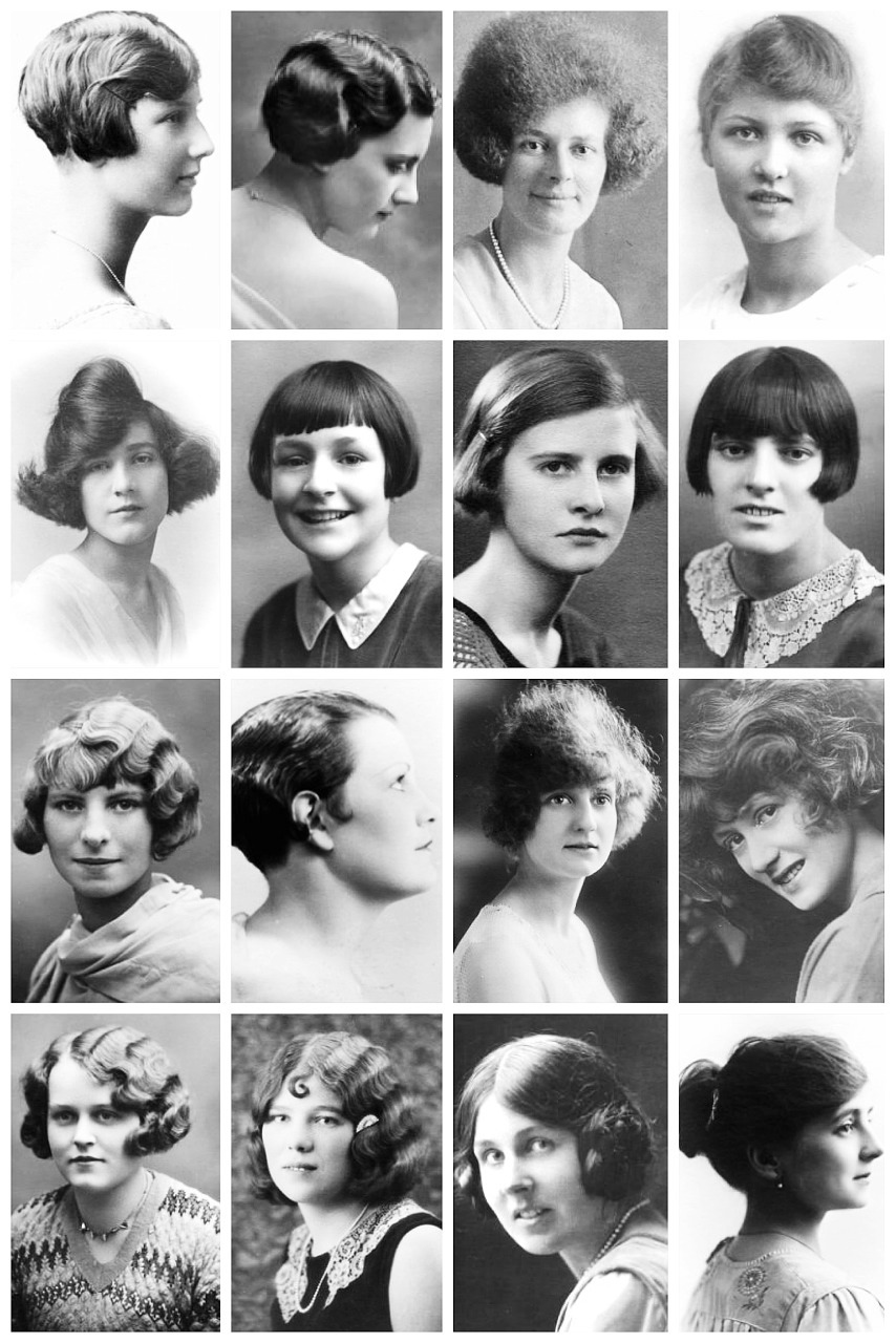 From The Bob To Finger Waves Vintage Photographs Depict