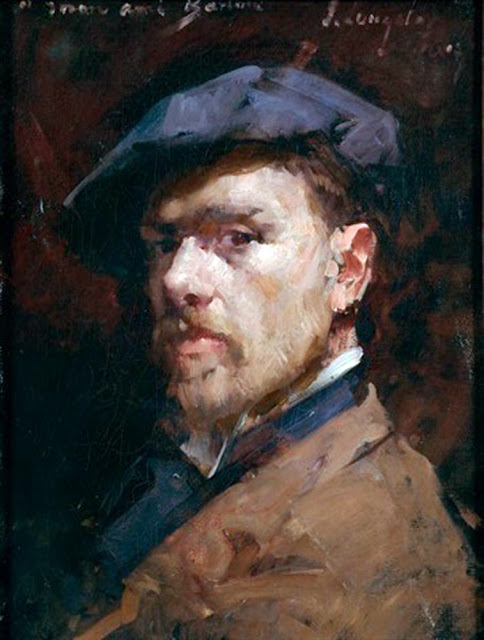 John Campbell Longstaff, Self Portrait, Portraits of Painters, John  Longstaff, Fine Art, Paintings of John  Longstaff, self Portrait of John Campbell Longstaff, Self Portrait, Portraits of Painters, John Longstaff, Fine Art, Paintings of John Longstaff