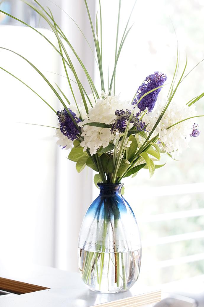 Gartenstrauß im Haus | Hortensien, Sommerflieder und Gräser