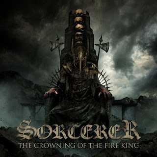 "Sorcerer - ""Crimson Cross"" (lyric video) from the album ""The Crowning of the Fire King"""