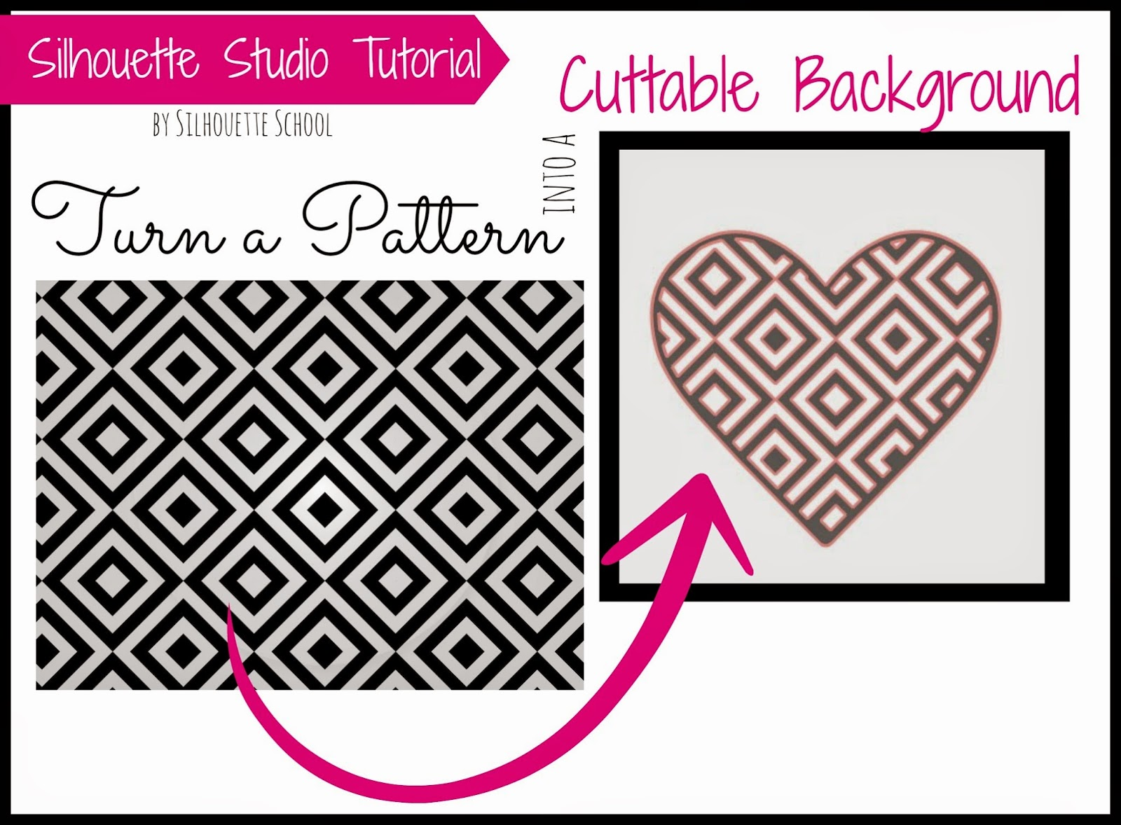 Patterns, cut files, Silhouette Studio, Silhouette tutorial