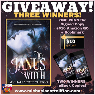 The Janus Witch giveaway graphic