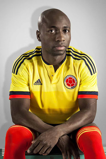 c3dc24404 The new Adidas Colombia 2015 Home Kit is bright yellow and has a classical  collar with two buttons. On the front of the new Colombia 2015 Home Jersey  is a ...