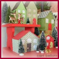 Casitas navideñas de papel