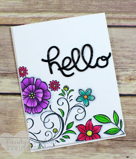 How to Stamp A Floral Background