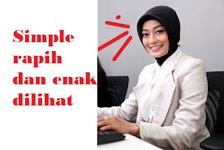 bentuk atau model kerudung yang digunakan untuk wawancara atau interview pekerjaan