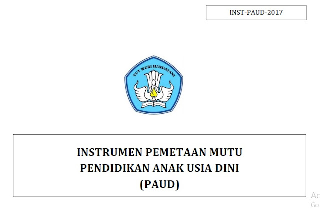 Download Instrumen Pemetaan Mutu PAUD