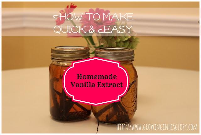 Homemade Vanilla Extract--The Quick & Super Easy Version