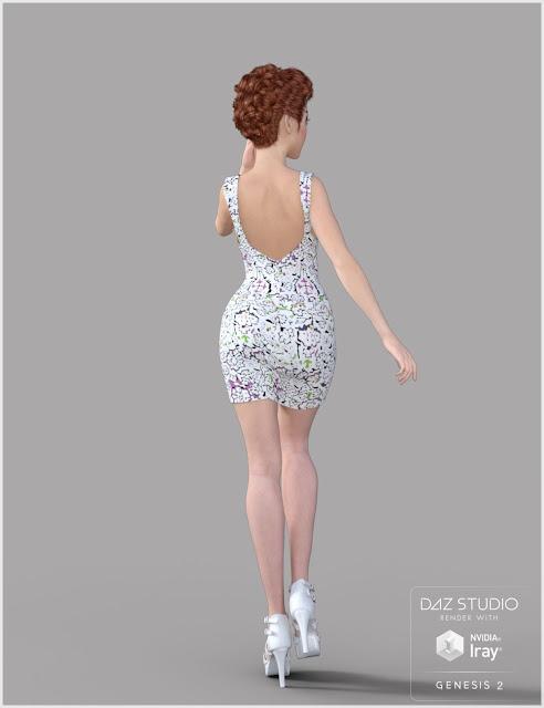Moon Dress for Genesis 2 - 3 Female