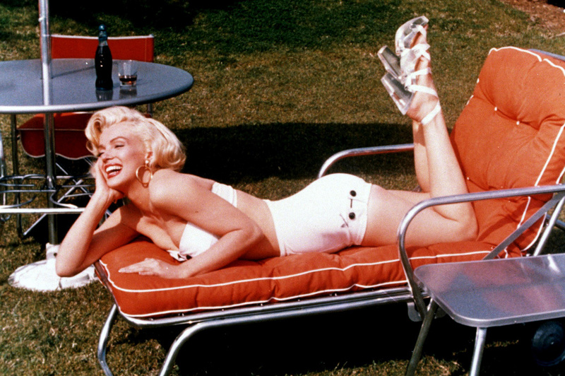 Cups For Chair Legs Bar Height Table And Chairs Morningstar Pinup: Marilyn Monroe White 2pc Sunsuit Bikini