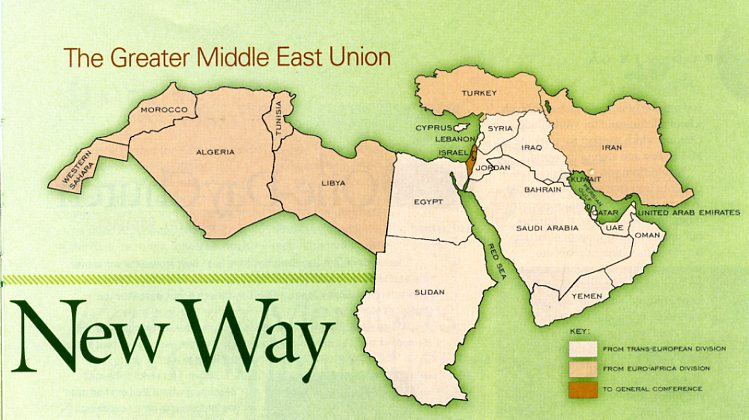 middle east administrative map