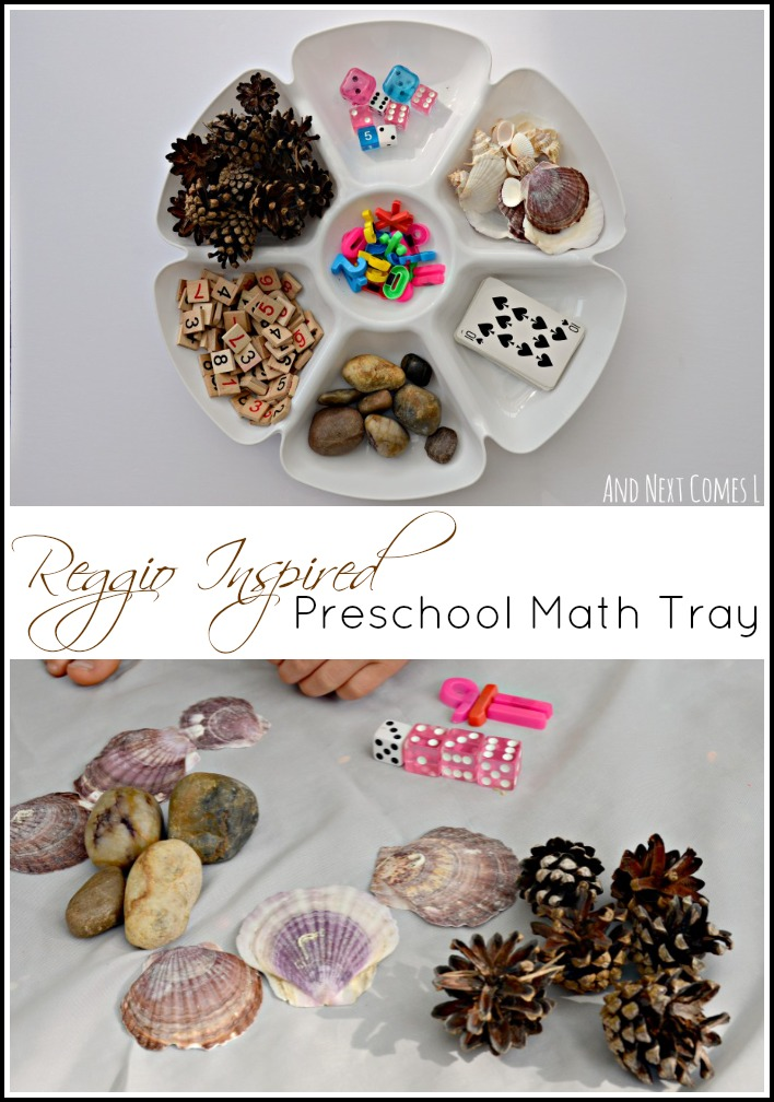 Reggio Inspired Preschool Math Tray And Next Comes L