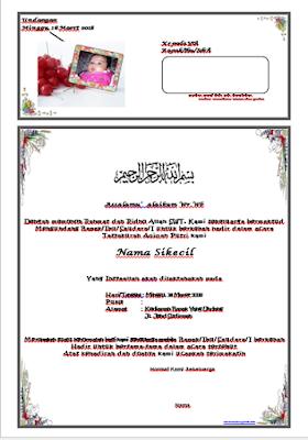 Undangan Aqiqah Word terbaru