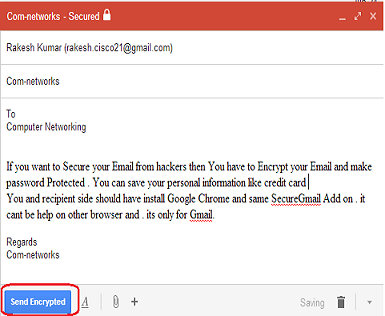 Send Password Protected and Encrypted Email in Gmail