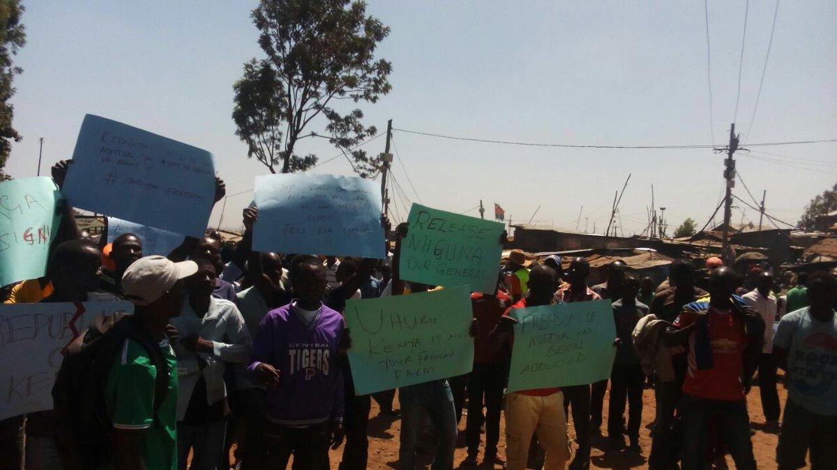 Kenyans Demand For The Release Of NRM General Miguna Miguna