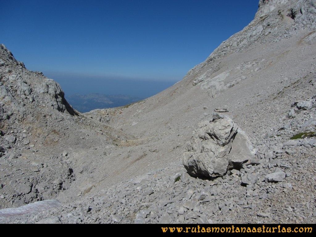 Ruta Ercina, Verdilluenga, Punta Gregoriana, Cabrones: Descendiendo al Jou de los desvíos