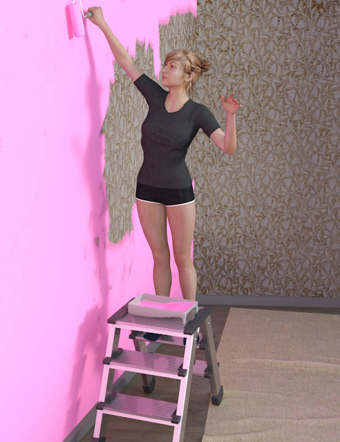 Painting the Living Room Environment Props and Poses