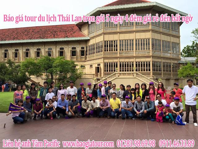 Báo giá tour du lịch Thái Lan trọn gói 5 ngày 4 đêm giá rẻ đến bất ngờ