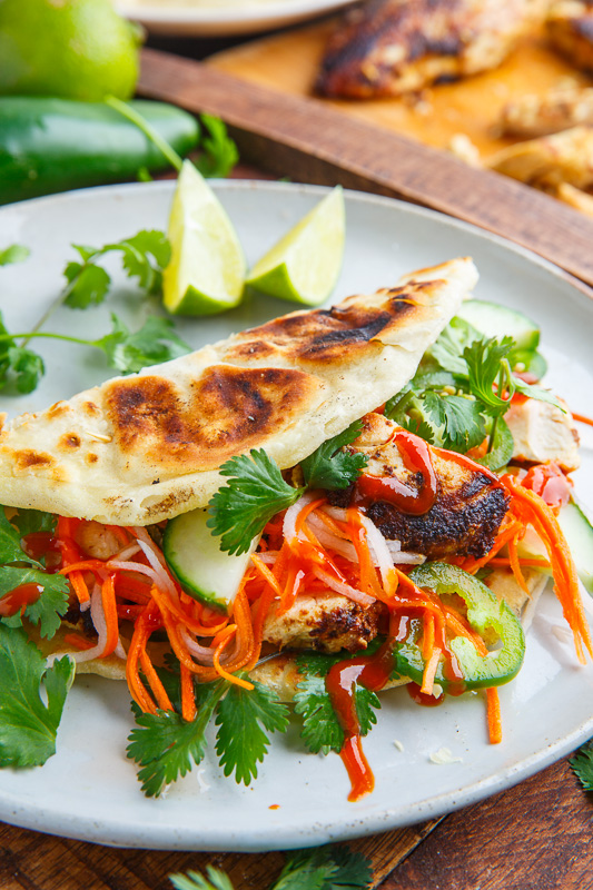 Lemongrass Chicken Banh Mi Paratha Tacos on Closet Cooking