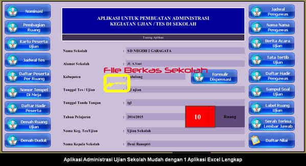Download Aplikasi Administrasi Ujian Sekolah Mudah dengan 1 Aplikasi Excel