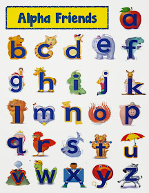 image about Alphafriends Printable titled Alphafriends Printable Flashcards