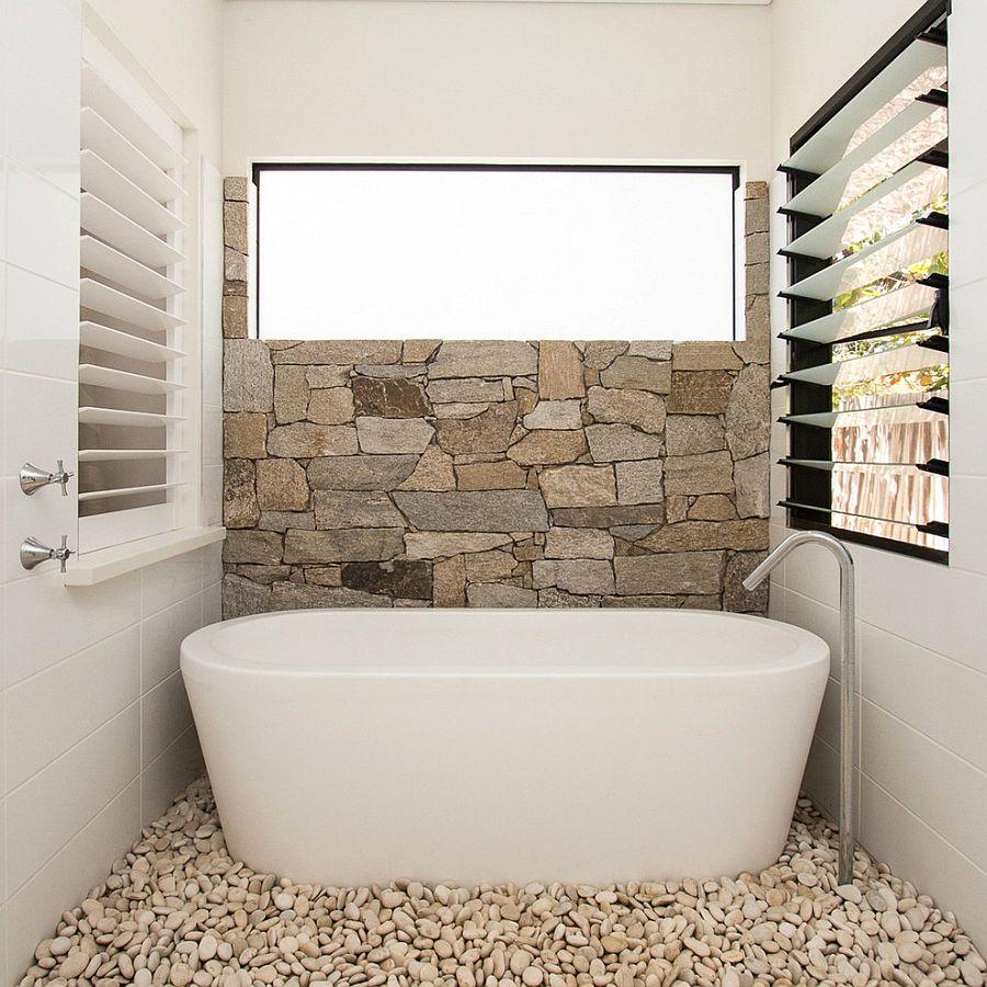 28 model kamar mandi batu alam yang mewah dan modern