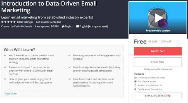 [100% Off] Introduction to Data-Driven Email Marketing| Worth 19,99$