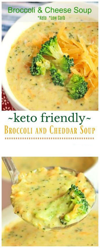 Keto Friendly Broccoli And Cheddar Soup