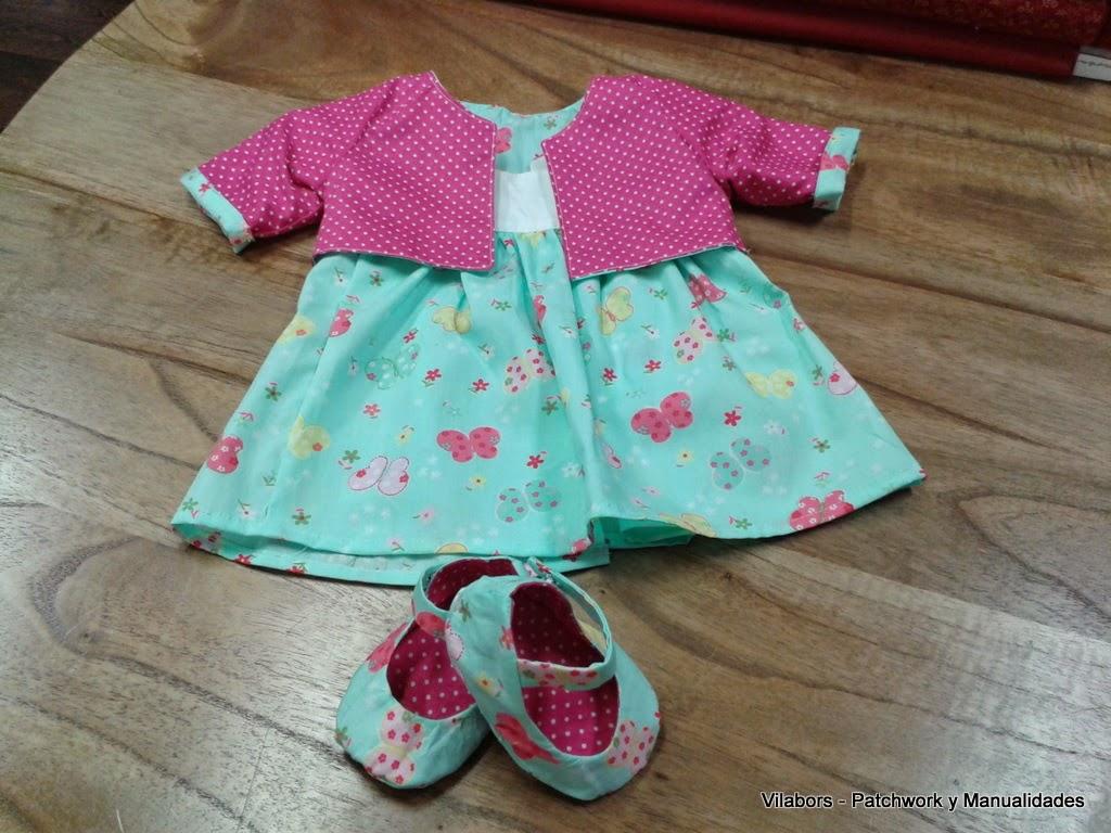 Vestido y zapatos a juego para bebé - Vilabors, Patchwork Vilafranca del Penedès