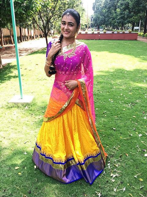 Actress Shalini Pandey Half Saree Stills