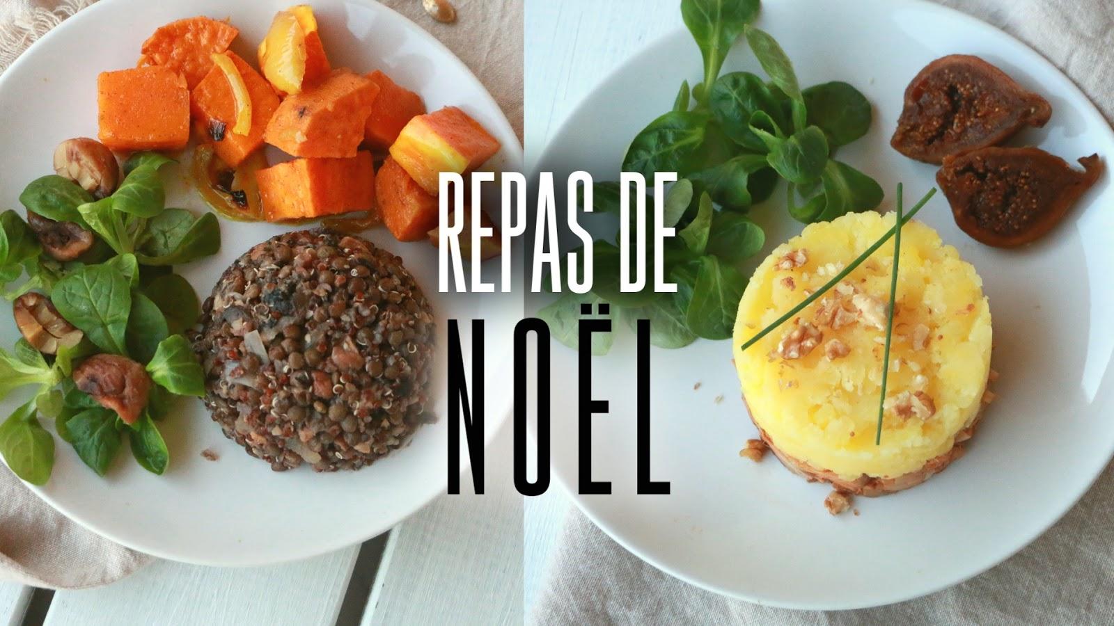 Recette repas noel vegan
