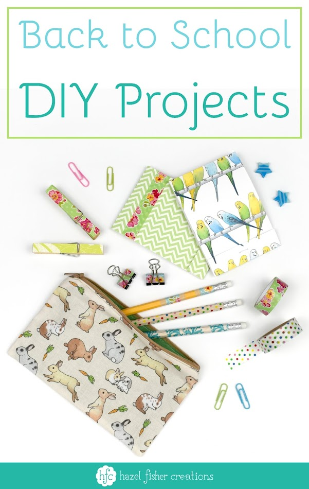 Back to School round up - DIY projects for Back to School stationery on Hazel Fisher Creations