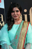 Samantha Ruth Prabhu Smiling Beauty in strange Designer Saree at IIFA Utsavam Awards 2017  Day 2  Exclusive 10.JPG