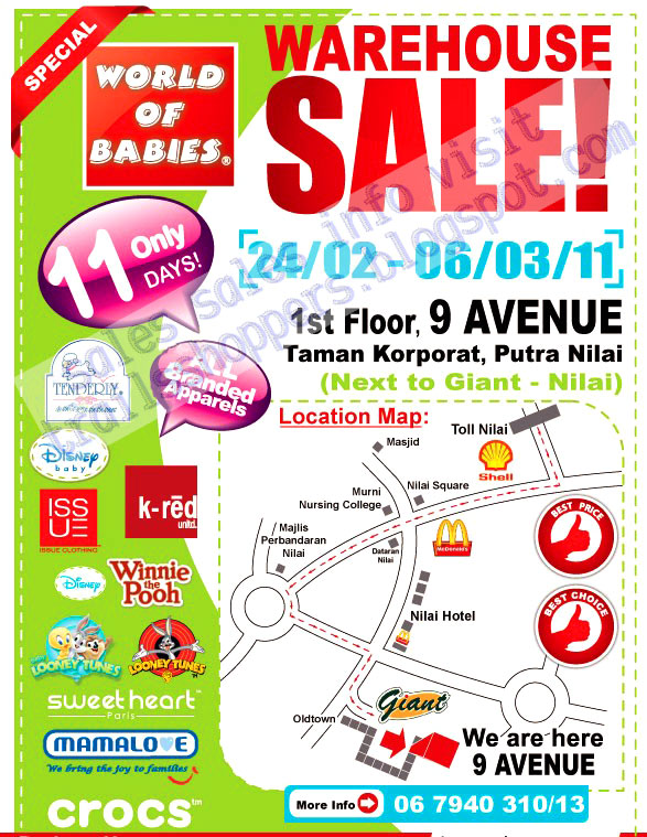 db776aafc World OF Babies Warehouse Sale and more