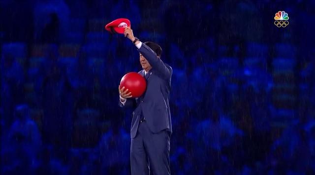 Mario Shinzo Shinzō Abe warp pipe Japan Tokyo 2020 Rio 2016 Olympic Games Closing Ceremony