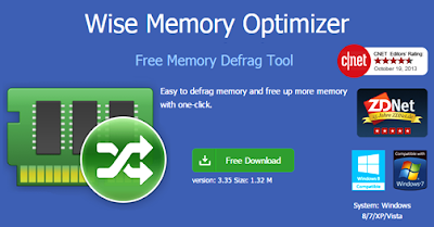 Wise Memory Optimizer, Free Memory Defrag Tool With One Click