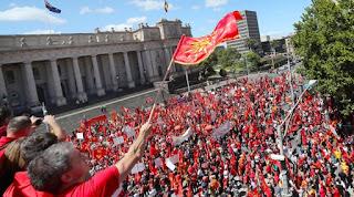 Αυστραλία: Μαζικές διαδηλώσεις Σκοπιανών για το Μακεδονικό - «Δεν πουλάμε το όνομά μας»