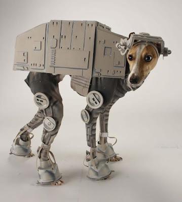 Dog in Star Wars AT-AT walker