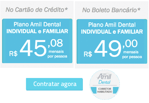 Contrate seu plano Amil Dental On-line