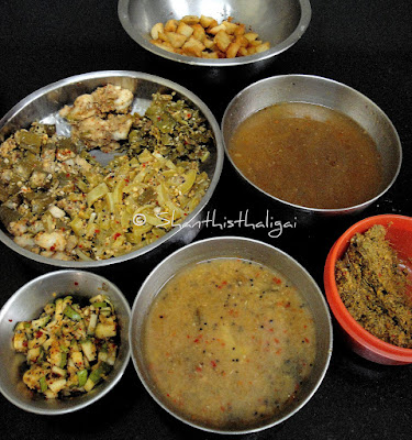 How to make erichcha kuzhambu, How to make yericha kuzhambu