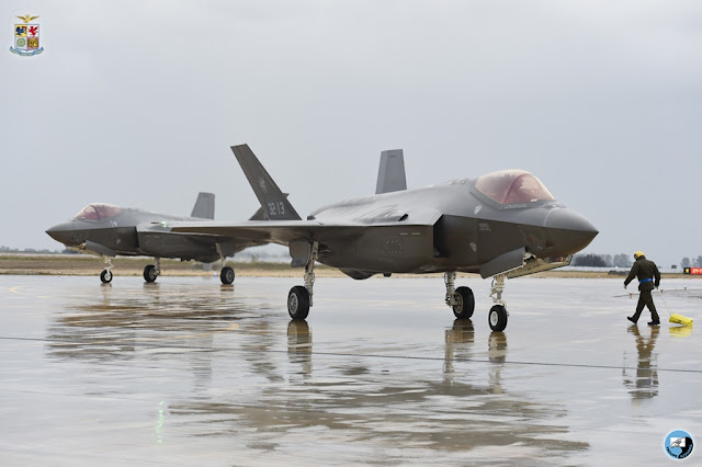 THE ITALIAN F-35A ARRIVES AT AMENDOLA AB
