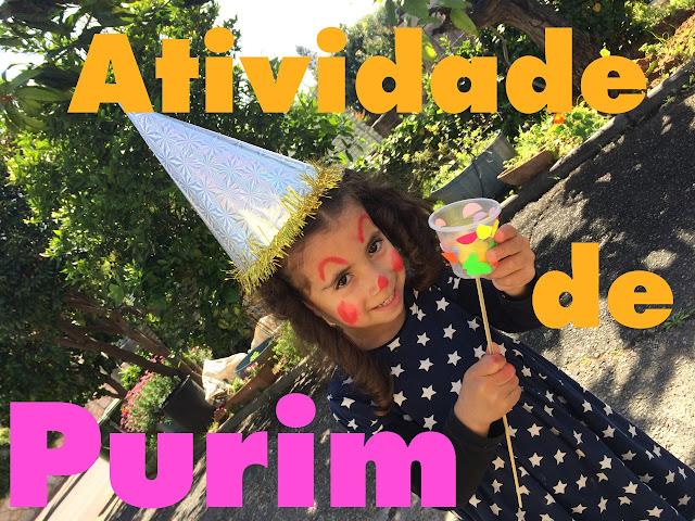 Atividade infantil de Purim
