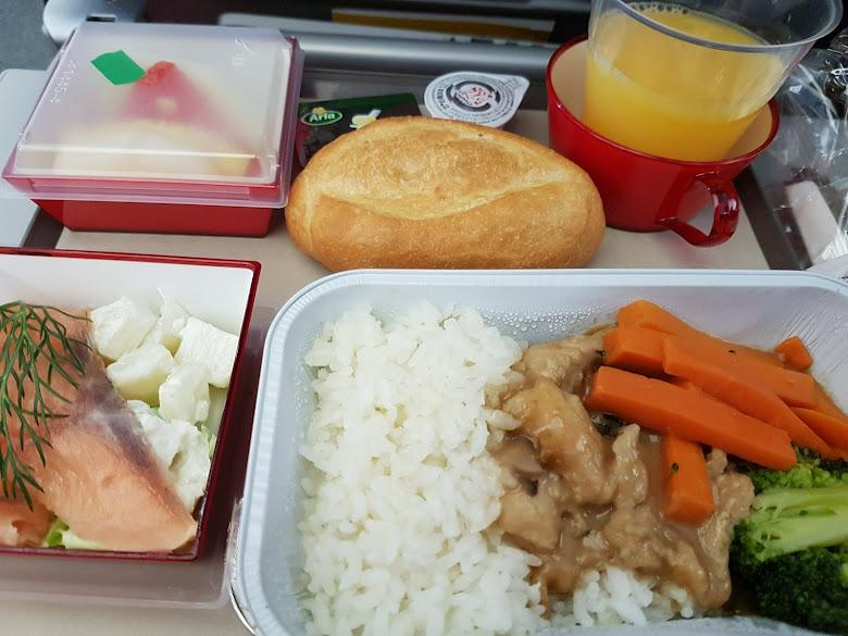 機上餐點,看起來似乎還行?