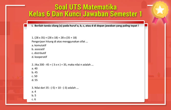 Soal UTS Matematika