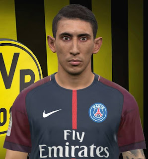PES 2017 Faces Angel Di Maria by FaceEditor Jefferson_SF