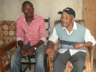 The former KBC presenter Eddy Fondo with child Kelvin Safari Fondo in his Kaloleni home. PHOTO| Courtesy ELIAS YAA (The star)