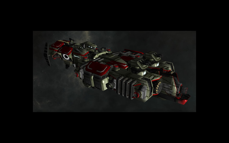 void wardrum command ship space warcraft spacecraft control intelligence capital combat destroyer frigate 3d mode lsolcommand original concept art
